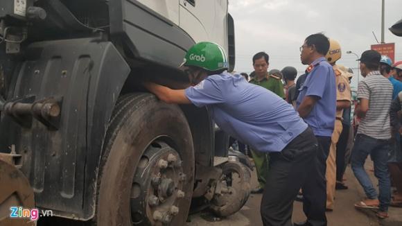 Phanh xe container tong chet 4 nguoi o Long An hoan toan binh thuong hinh anh 1