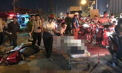 Chạy sát lề đường, người đàn ông vẫn chết tức tưởi dưới bánh xe container