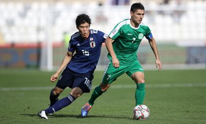 Nhật Bản chật vật giành 3 điểm trước Turkmenistan