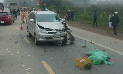 """""""Xế hộp"""" va chạm kinh hoàng xe máy trên quốc lộ, 2 người tử vong"""