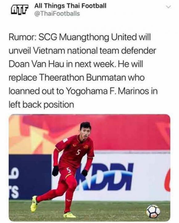 Ngã ngửa tin Văn Hậu tới Thái Lan làm đồng đội Văn Lâm: Đâu là sự thật? - 1
