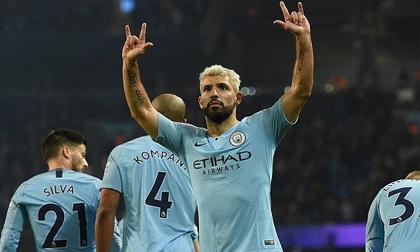 Man City có chiến thắng tối thiểu nhờ pha đá phạt đền của Aguero