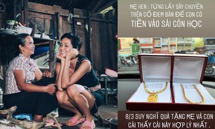 H'Hen Niê mua trang sức 80 triệu tặng mẹ, ai cũng cảm động khi biết câu chuyện đằng sau