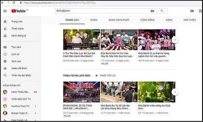 Kênh Youtube của Khá 'bảnh' đã bị xóa