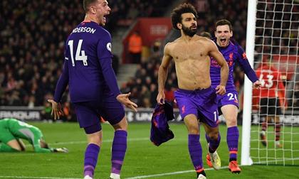 Salah 'nổ súng' trở lại, Liverpool thắng ngược nghẹt thở để tái chiếm ngôi đầu