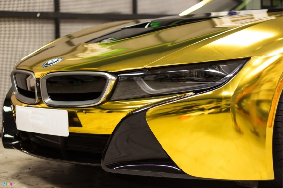 Ngắm BMW i8 mạ vàng của dân chơi Sài Gòn