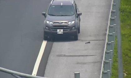 """""""Xế hộp"""" liều mạng đi ngược chiều suốt 10km trên cao tốc Hà Nội-Hải Phòng"""