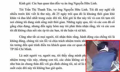 Vợ ông Nguyễn Hữu Linh viết tâm thư gửi cộng đồng mạng