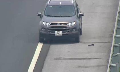 Phạt 7,5 triệu đồng tài xế đi ngược chiều trên cao tốc, cố tình không chấp hành hiệu lệnh