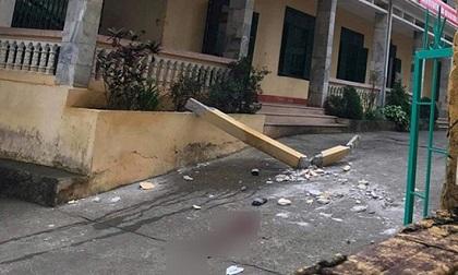 Bê tông ở trường học rơi trúng đầu, 2 học sinh nguy kịch
