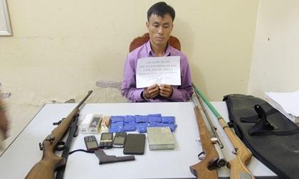 Bắt đối tượng ở Sơn La tàng trữ 1 bánh heroin cùng 4 khẩu súng