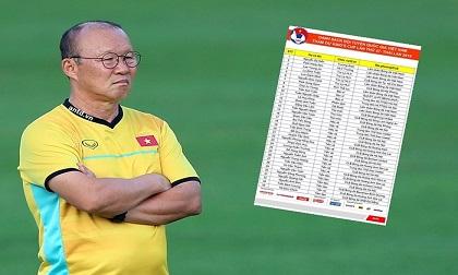 Nhìn danh sách ĐT Việt Nam, lại thấy... thương thầy Park!