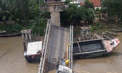 Cầu ở Đồng Tháp sập sau ít tháng dừng thu phí BOT