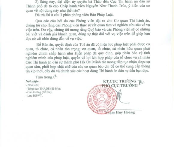 Cục THADS nói về vụ bà Thảo không trả con dấu cho Trung Nguyên
