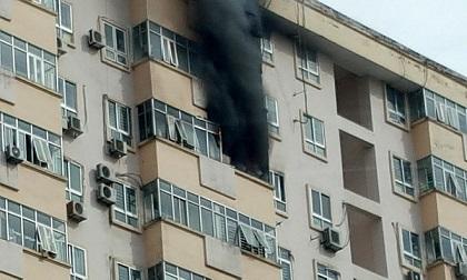 Cháy chung cư ở Hà Nội