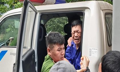 Trùm bảo kê chợ Long Biên Hưng 'kính' khóc nức nở khi gặp người thân ở tòa