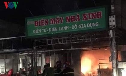 Cháy lớn thiêu rụi cửa hàng điện máy tại Tiên Lãng, Hải Phòng