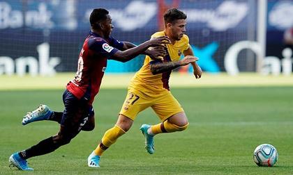 Messi tiếp tục vắng mặt, Barca bị cầm hòa trên sân Osasuna