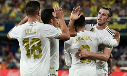 Bale lập cú đúp và nhận thẻ đỏ trong ngày Real hòa Villarreal