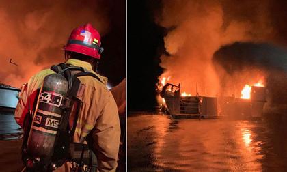Cháy tàu du lịch California, 8 người chết và hàng chục người mất tích