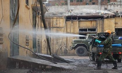 Hoàn thành tiêu tẩy hóa chất độc hại ở Công ty Rạng Đông