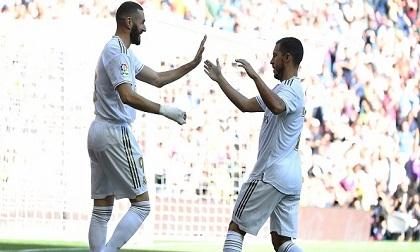 Hazard mở tài khoản, Real Madrid trở lại mạch thắng