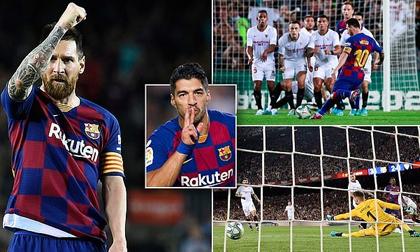 Messi ghi siêu phẩm, Barca vùi dập Sevilla và ăn 2 thẻ đỏ