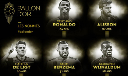 Ronaldo được đề cử Quả bóng Vàng năm thứ 16 liên tiếp