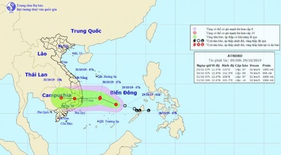 Áp thấp nhiệt đới sắp mạnh thành bão, hướng vào Nam Trung Bộ - 1