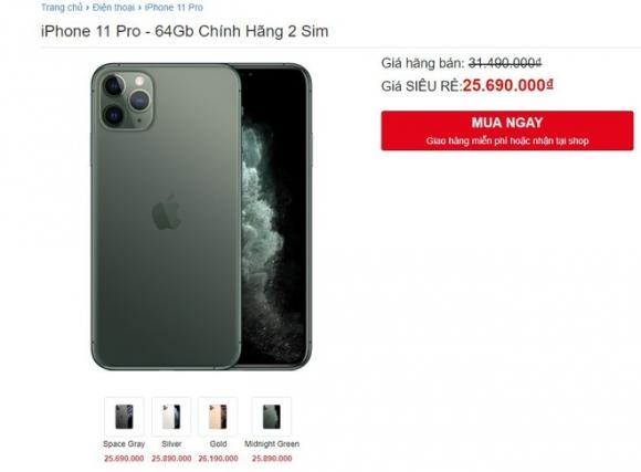 iPhone 11 Pro ve gia 25 trieu van khong ai mua hinh anh 1