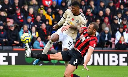 MU trở lại mặt đất với trận thua sốc trên sân Bournemouth