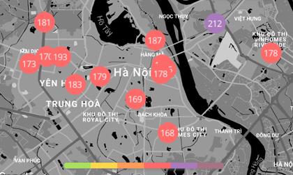 """Chất lượng không khí ngày 1/1: Ngày đầu năm mới 2020, Hà Nội vẫn ở ngưỡng """"đỏ rực"""""""