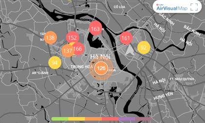 Chất lượng không khí ngày 7/1: Dù có mưa, Hà Nội vẫn ở ngưỡng xấu