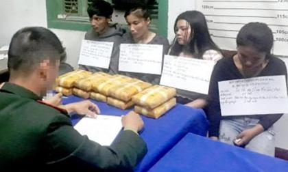 4 đối tượng vận chuyển 60.000 viên ma túy bị bắt giữ