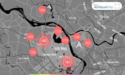 Chất lượng không khí ngày 13/1: Hà Nội ở ngưỡng xấu, có hại cho sức khỏe