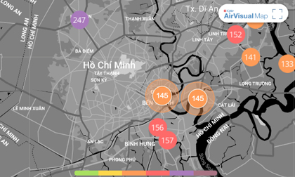 Chất lượng không khí ngày 17/1: TP.HCM vẫn ở mức kém, Hà Nội trong lành