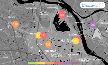 Chất lượng không khí ngày 1/2: Hà Nội đứng thứ 3 trong top 10 thành phố ô nhiễm không khí thế giới