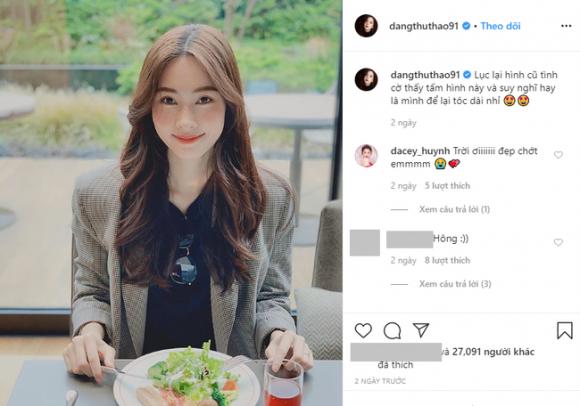 Hoa hậu Đặng Thu Thảo muốn để tóc dài, fan khen kiểu nào cũng đẹp