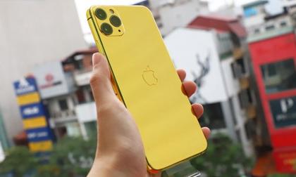 Sốc với điện thoại iPhone Pro Max mạ vàng 24K có giá 50-60 triệu đồng