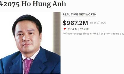 Thêm một đại gia Việt rớt khỏi danh sách tỷ phú USD