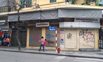 Ảnh hưởng dịch virus corona, hàng loạt cửa hàng phố cổ Hà Nội đóng cửa dừng hoạt động