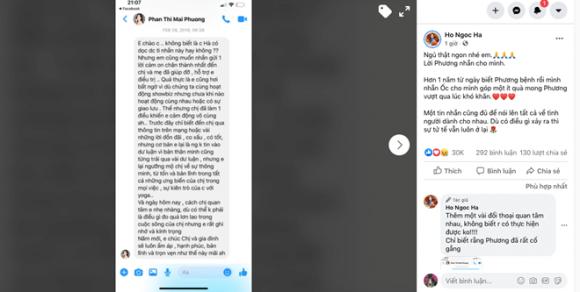 Hà Hồ bất ngờ chia sẻ tin nhắn của Mai Phương cách đây 1 năm, ai cũng xót xa