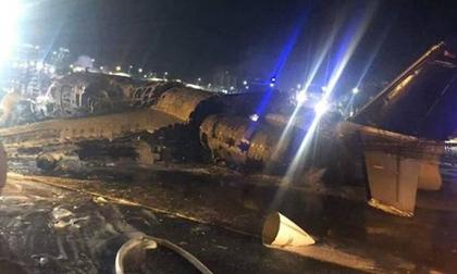 Máy bay nổ tung khi cất cánh ở Philippines