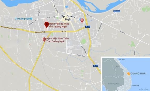 Khong che nguoi dan ong tuoi xang dot benh vien tinh hinh anh 2 map_QuangNgai_Benhvien.jpg
