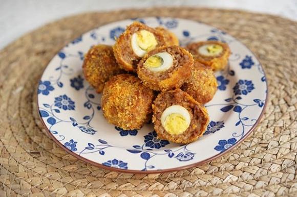 Thịt viêm trứng chim cút thơm ngon giòn tan ai cung mê mệt