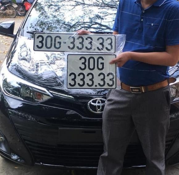 Bốc trúng biển số 'ngũ quý 3', chủ xe Vios được chào mua lại ngay với giá 3,3 tỷ đồng