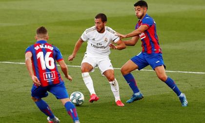 Hazard tỏa sáng, Real Madrid thắng cách biệt Eibar