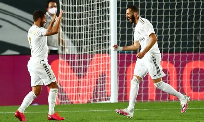 Hazard, Benzema chơi ăn ý giúp Real nhấn chìm Valencia