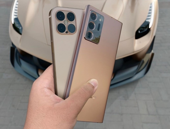 iPhone 12 Pro đối đầu với Galaxy Note20 Ultra trong bộ ảnh concept - 1