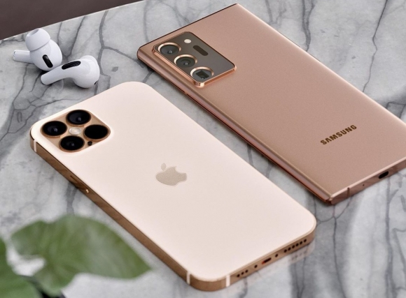 iPhone 12 Pro đối đầu với Galaxy Note20 Ultra trong bộ ảnh concept